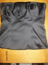 Topshop Womens Size 10 Black Strapless Satin Boned Bodice
