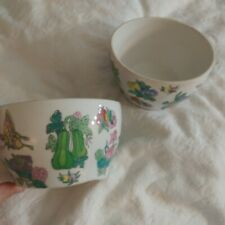 New listing Williams Sonoma Asian Design Famille Rose Colors Set of 2 nesting Bowls