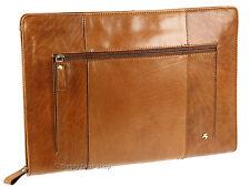 Visconti Buffalo Leather Zip Around Folio A4 Document Holder Folder Case - Ml26 Tan