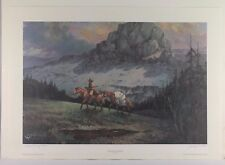 """""""THE PATH FINDER"""" ARTIST PROOF PENCIL SIGNED LITHOGRAPH BY JACK JORDAN"""