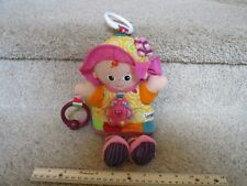 Lamaze My Friend Emily First Baby Doll Rattle Car Seat Yellow Hanging Plush Toy