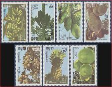 CAMBODGE Kampuchea N°681/685** Flore : Fruits,1986 CAMBODIA Sc#728-734 MNH