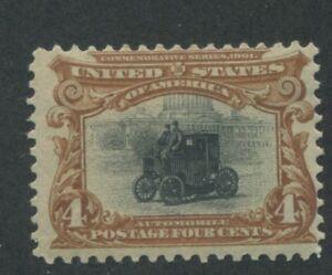 1901 United States Postage Stamp #296 Mint Hinged F/VF Original Gum