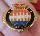 PIN'S VILLE VILLAGE BLASON ECUSSON COURONNE ARMOIRIES CAHORS
