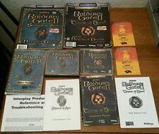 Baldur's Gate II Shadows of Amn & Throne of Bhaal PC Video Game Lot Manual Books
