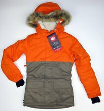 $150 Youth Girls 686 Polly Insulated Winter Sports Ski Jacket Fur Hood 32 Medium