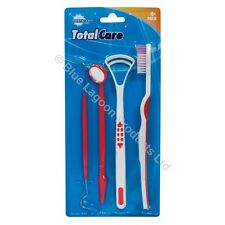 4 x Dental Care Set Tooth Teeth Brush Mirror Pick Tongue Cleaner Scraper Tools