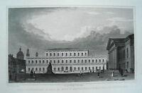München Theater und Königsbau  Bayern   echter alter Stahlstich 1840