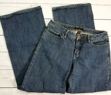 Christopher Blue Womens Wide Leg Jeans Size 8 (29x30) Stretch Mid Rise Medium