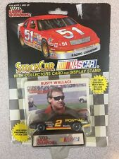 1992 Racing Champions Rusty Wallace Die Cast Stock Car w/ Trading Card