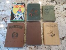 6  PINOCCHIO BOOK COLLECTION LOT COLLODI,  SAALFIELD 1904, 1916, 1939, 1946
