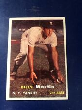 1957 TOPPS #62 BILLY MARTIN NEW YORK YANKEES  *FREE SHIPPING*