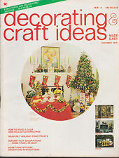 DECORATING & CRAFT IDEAS MAGAZINE DECEMBER 1973/JANUARY 1974 *CHRISTMAS ISSUE*