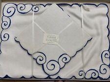 New listing 4 Vintage Marghab Madeira Hand Embroidered Placemats/ Napkins Original Box Nib