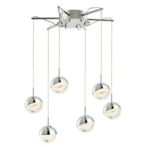 ET2 Lighting Spot 6-Light Pendant, Polished Chrome - E20326-83PC
