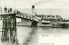 PRINTED POSTCARD OF THE FERRY AND PIER, EASTHAM, (NEAR ELLESMERE PORT), CHESHIRE