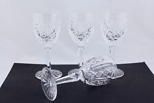 "SET OF 4 WATERFORD CRYSTAL GLENGARRIFF 6-1/2"" CLARET WINE GLASSES - MINT"