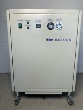 DRÄGER MAC 100S ATEMLUFT KOMPRESSOR 8BAR 40L 220V/380V JUN-AIR OF1202-40M ÖLFREI