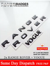 BRUNEL GREY RANGE ROVER LETTERS BADGE LETTERING + VOGUE P38 REAR BONNET BOOT