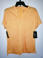 Womens Nike Golf Dri-Fit Orange Short Sleeve Shirt New NWT $65