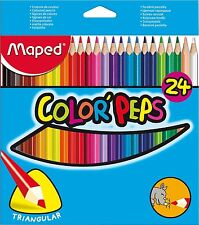 24 x Maped Color'peps Colouring Pencils - Triangular, Ideal for Adult Colouring
