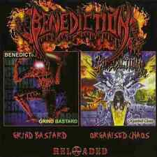 2 CD SET BENEDICTION GRIND BASTARD + ORGANISED CHAOS NEW SEALED RELOADED EDITION