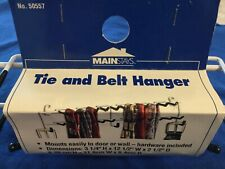"""Tie and Belt Hanger Wall Mount Hardware Included White & Black 12.5"""" Wide"""