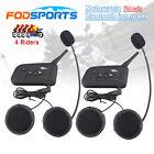2x V4 1200M Intercomunicador Interphone Bluetooth Auriculares Interfono Moto FM