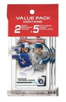 2020 Bowman Baseball Sealed Retail Cello Value Pack - 2 Packs + 5 Camo Parallels
