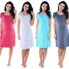 Purpless Maternity 2in1 Pregnancy & Nursing Button Opening Nightdress 6066n