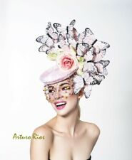 Blush pink butterfly Fascinator, Kentucky Derby hat for women's,Hand made in USA