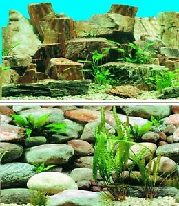 Aquarium Fish Tank Background Picture Poster Double Sided - 2 to 10 FT Lengths