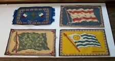 Four Tobacco Felts Flags - Ireland, Mexico, Uruguay Spain 8 1/2 by 5 1/4 inches