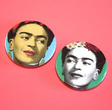 SET OF TWO FRIDA KAHLO BUTTON PIN BADGE