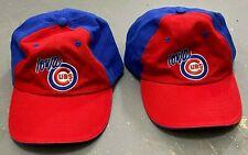 Pair (2) Iowa Cubs adjustable blue & red baseball low profile cap hat - SGA?