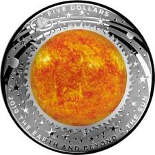 AUSTRALIA $5 2019 Earth And Beyond - The Sun 1oz Domed silver proof coin