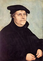 Oil painting lucas cranach the elder - portrait of martin luther free shipping