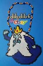 Ice King perler kandi necklace Adventure Time rave EDC PLUR