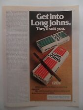 1976 Print Ad Long Johns 120s Cigarettes ~ Get Into Them. They'll Suit You.