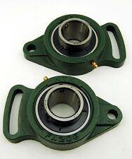 (2) Ntn Slotted 40mm 2 Flange Bearings Metric Ucfa208D1
