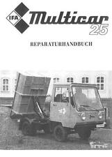 Reparatur Instandsetzung Multicar 25 Waltershausen IFA DDR Handbuch M25