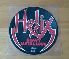 """Helix Heavy Metal Love 1983 UK 7"""" Picture Disc CLP314 Hard Rock"""