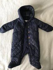 Ralph Lauren baby boys blue down snowsuit bunting jacket sz 6 months