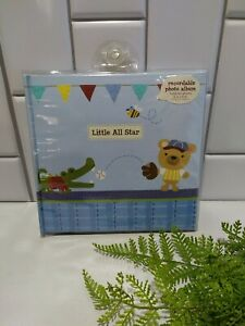 Stepping Stones By C.R. Gibson Baby Boy Little All Star Recordable Photo Album