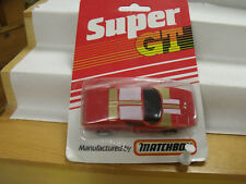 MATCHBOX SUPER GT ,CHINA, RED, WHITE & GOLD, BR 7/8 ,IN UNOPENED BLISTER