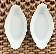 "2 New OmniWare / Omni Ware Porcelain Dish White Au Gratin / Baking Dishes 9"""