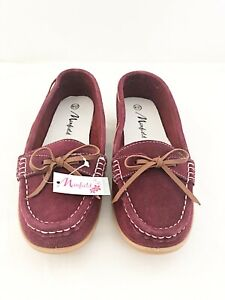 New Ladies Purple Faux Suede Loafer UK Sizes 4, 5, 6
