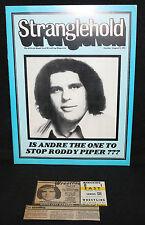 Stranglehold Wrestling Magazine w Ticket Stub - Andre the Giant (VF) 8/9/1981
