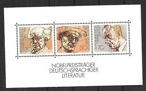 Briefmarken BRD 1978 Nobelpreisträger Literatur