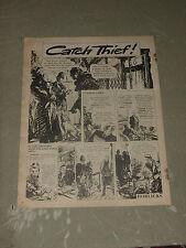 "HORLICKS 'CATCH THIEF' 1955  Vintage   14"" X 12""  (Approx)  Orig UK   Advert"